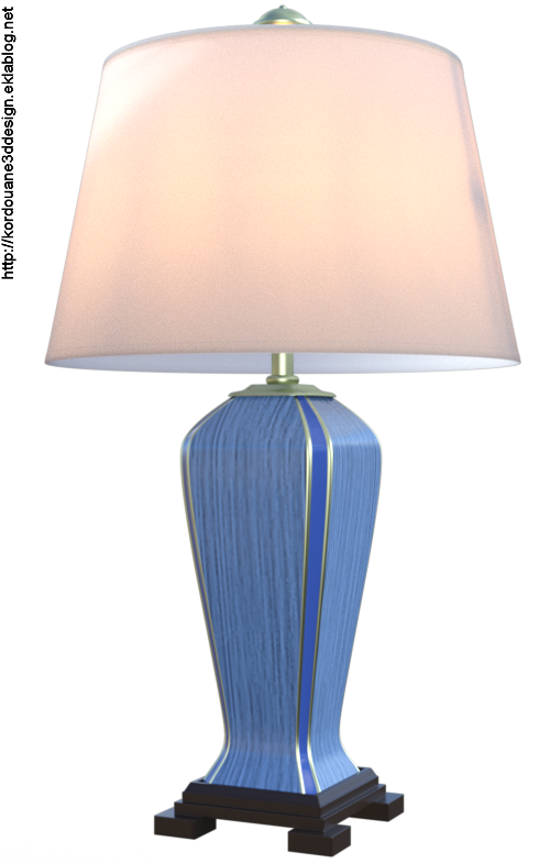 Tube lampe de salon (render-image)