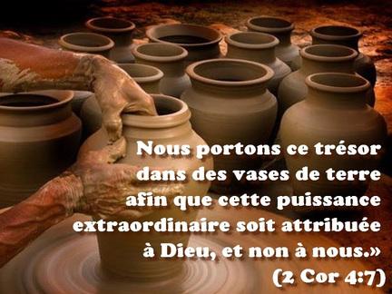 Un trésor dans des vases d'argile – Blog du pasteur Albert