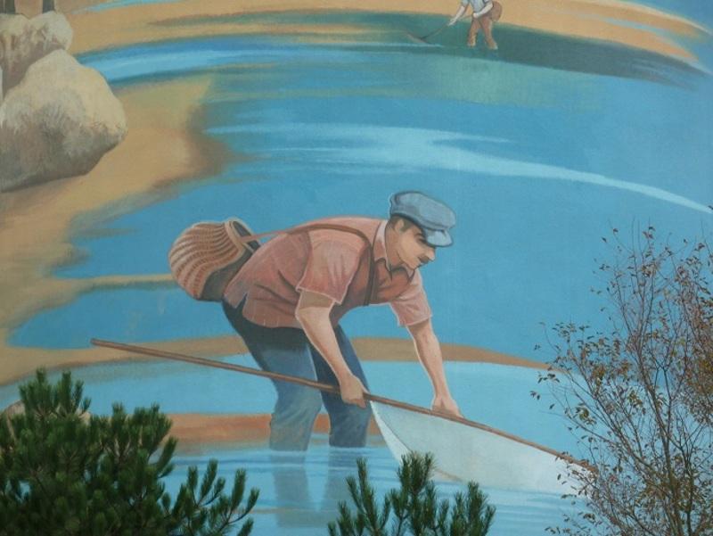 détail de peinture sur un château d'eau