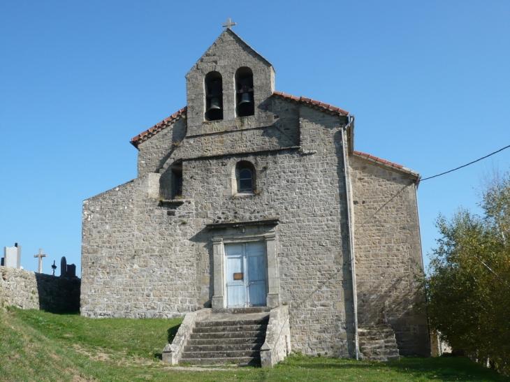 Eglise d'Aizac et Volcan