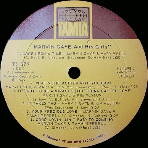 "Marvin Gaye : Album "" Marvin Gaye & His Girls "" Tamla Records TS 293 [ US ]"