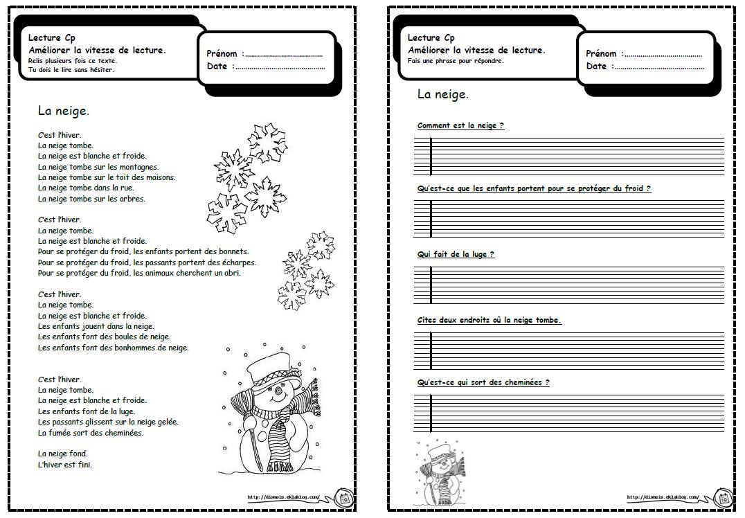 Favori Petits textes pour travailler la lecture et la compréhension en CP  WU87