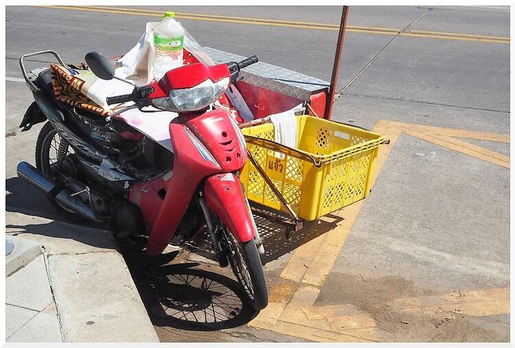 Motos en Thaïlande.