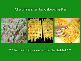 GAUFRES À LA CIBOULETTE