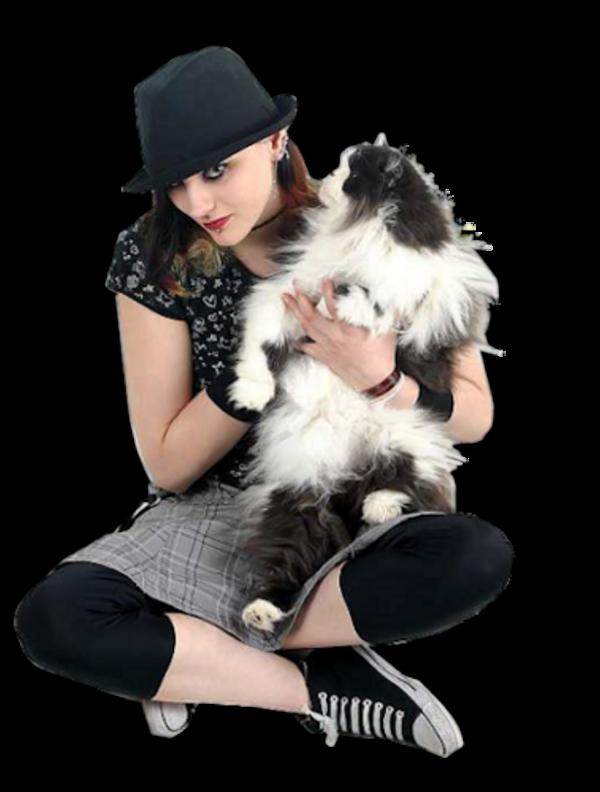 Femme avec des animaux 1