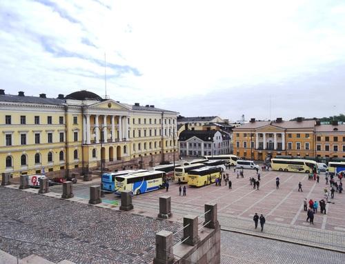 La Place du Sénat ç Helsinski en Finlande (photos)