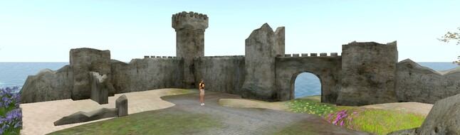 Château au bord de l'eau