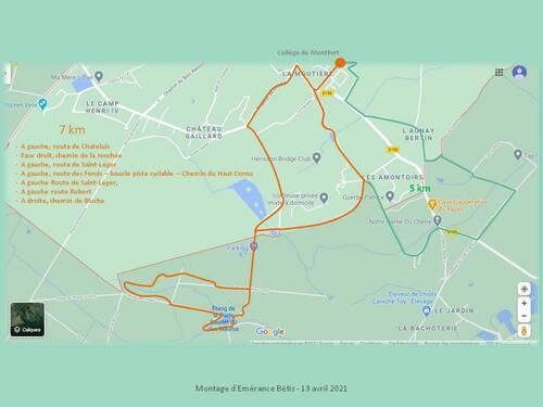 Montfort l'Amaury : boucle étang des Maurus (7km)