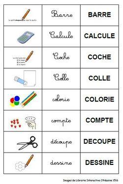 Jeux de paire pour Français Langue Etrangère (FLE)