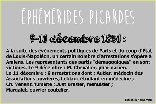 Ephémérides picardes : 9-11 décembre 1851