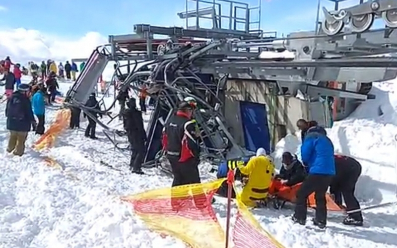 Géorgie, un télésiège s'emballe, plusieurs skieurs éjectés