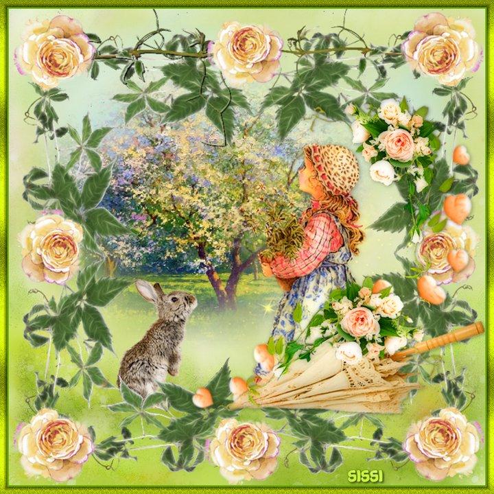 Cadre aux roses * Atelier de Cerise *