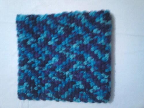 snood bleu granite 25*23