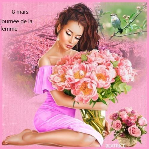 mes créations pour la journée de la femme le 8 mars