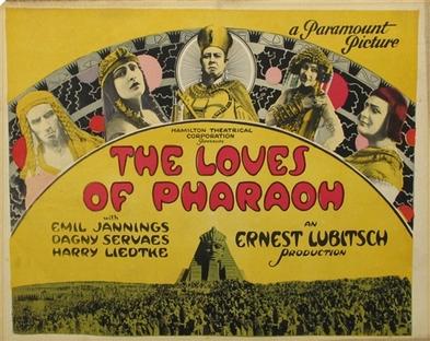 """Résultat de recherche d'images pour """"THE LOVES OF PHARAOH 1922 poster"""""""