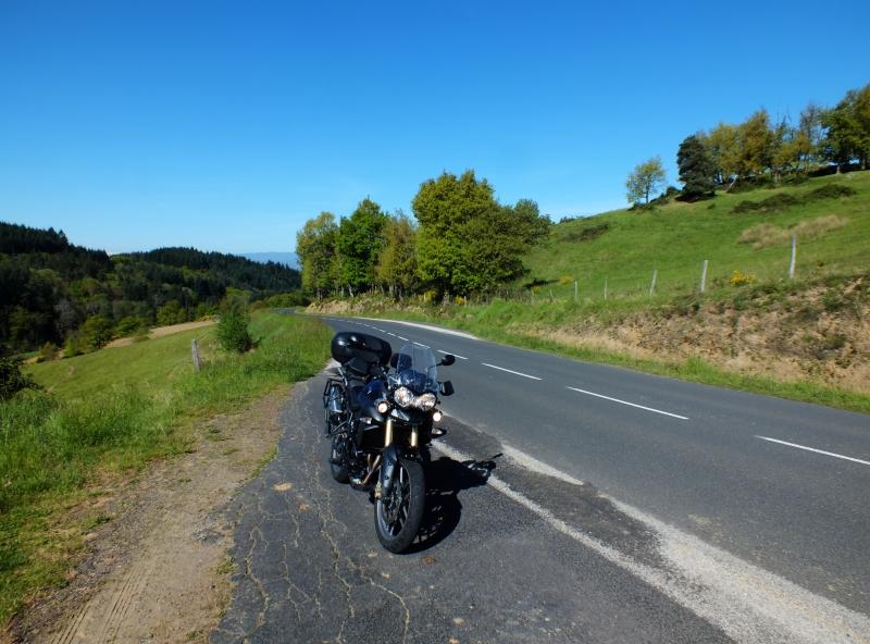 balade moto dans le Livradois-Forez