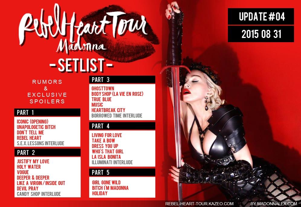 Madonna Rebel Heart Tour Setlist U4