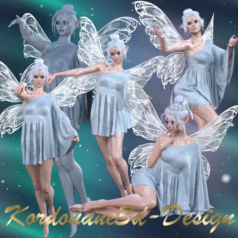 Fée de glace - Ice Fairy (tube, poser)