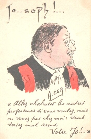 Joseph Barthélémy, professeur de Droit à Paris et ministre de la Justice à Vichy