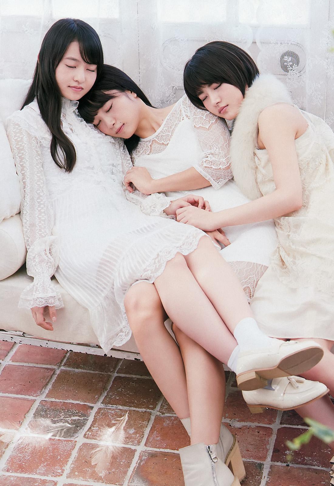 Wakatsuki Yumi 若月佑美, Fukagawa Mai 深川麻衣, Ito Marika 伊藤万理華 Le repos d'ange 2