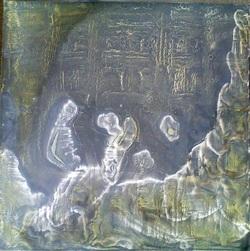 . Peintures de feu sur plastique
