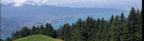 Vue sur le lac d'Annecy à partir du chalet