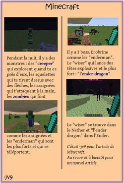 Foot - Pokemon - Aiki jutsu - Mac Do - Minecraft - ...