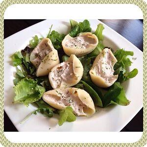 Salade de pâtes farcies thon/ ricota/ ciboulette