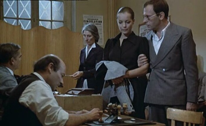 ROMY SCHNEIDER-JEAN LOUIS TRINTIGNANT-LE TRAIN-1973