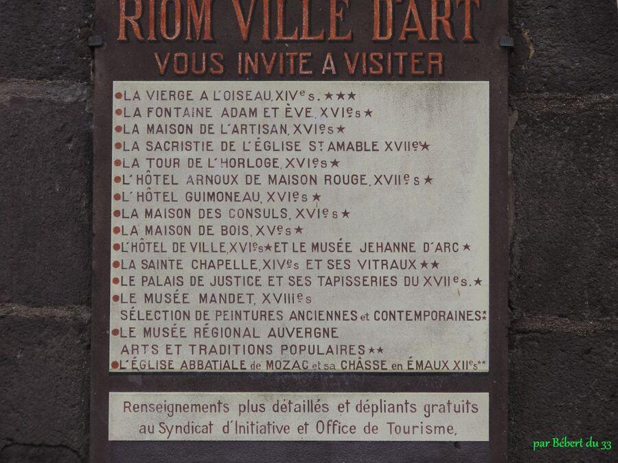 Riom - dans le puy de Dôme