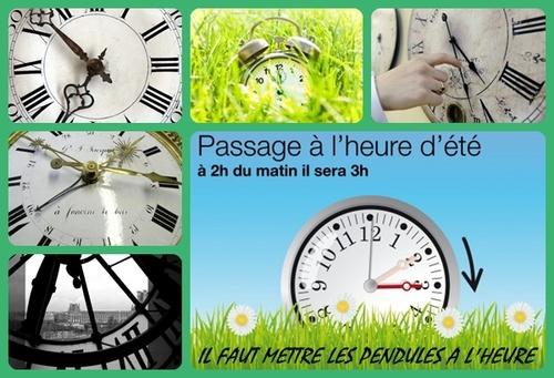 LE TEMPS DE L'HEURE D'ETE