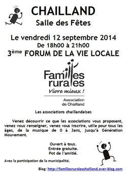 Forum de la vie locale.