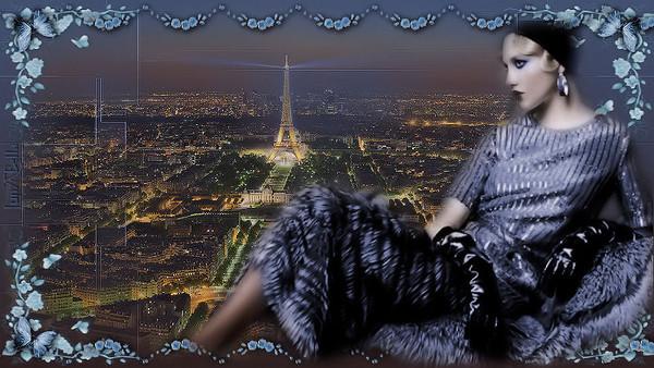 N° 1 - PARIS  VU  DU  HAUT  DE  LA  TOUR  EIFFEL  ET LE -  N° 2 -   LE  DESSOUS  DE LA  TOUR  EIFFEL  ET  LES ENVIRONS  DE  PARIS