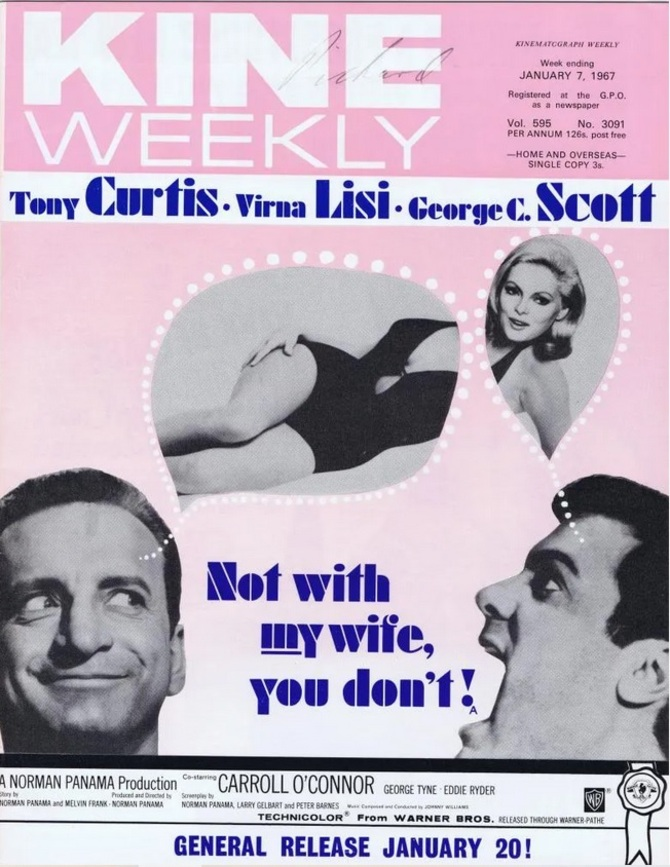 NOT WITH MY WIFE YOU DON'T BOX OFFICE USA 1966