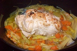 Roti de dinde sauce blanquette