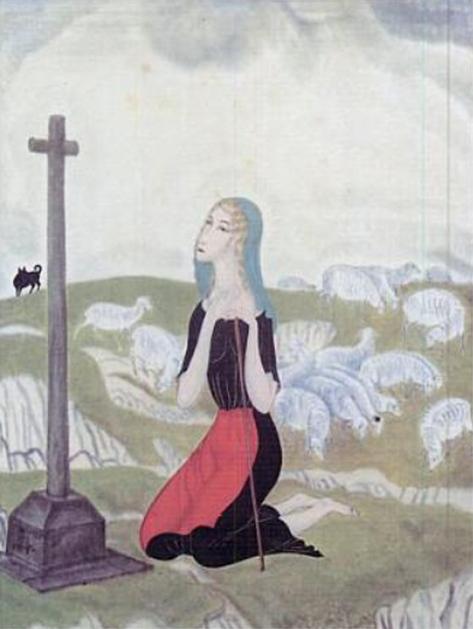 bergère en prière