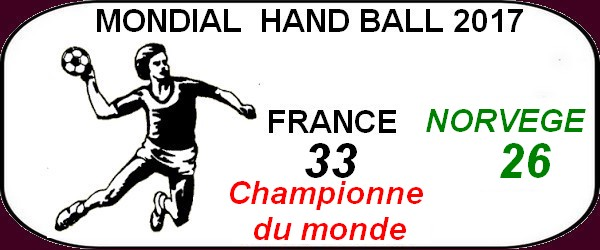 En France si le hand ball est sur le toit du monde en beauté nous avons Miss Univers.