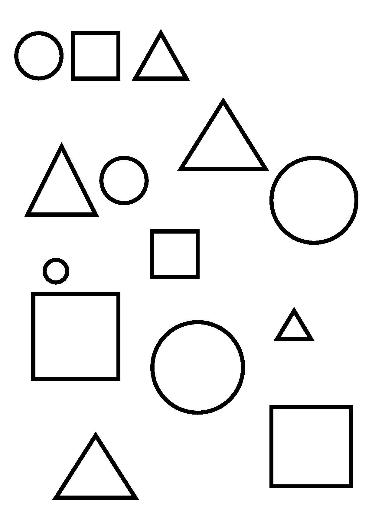 3 souris en papier ps la maternelle de camille - Coloriage des formes geometriques ...