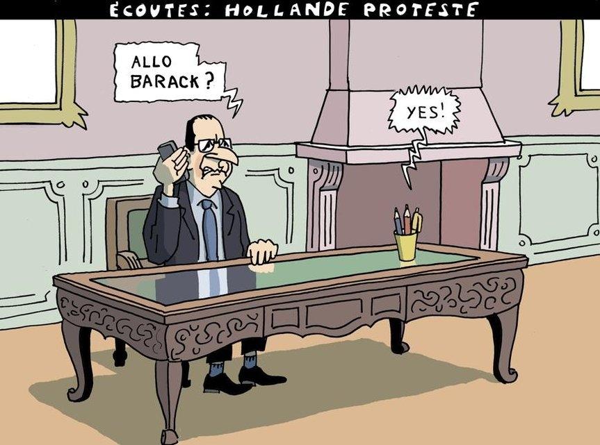 Ecoutes - Hollande proteste