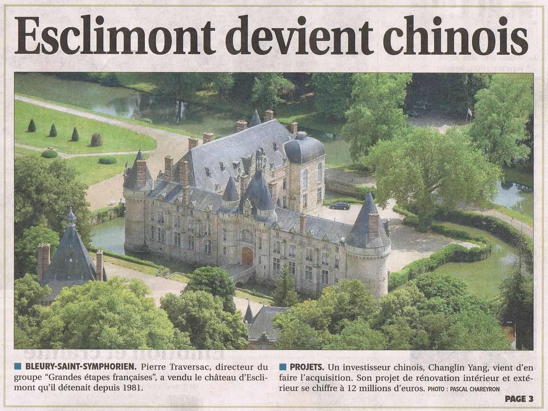 chateau d'esclimont a vendre