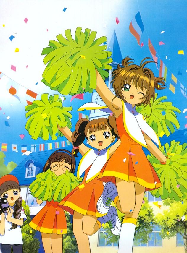 sakura chasseuse de cartes:sakura et ses copines en pompom-girls