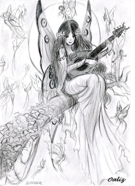 [ Dessin ] Fée à la mandoline