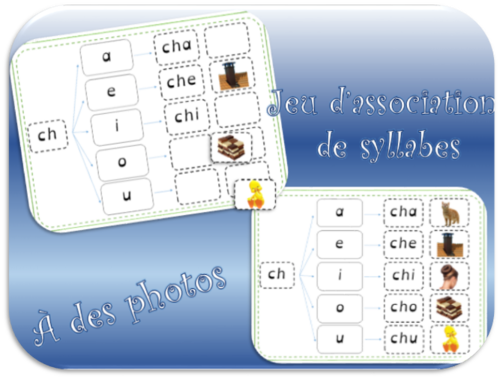 Jeu d'association de syllabes