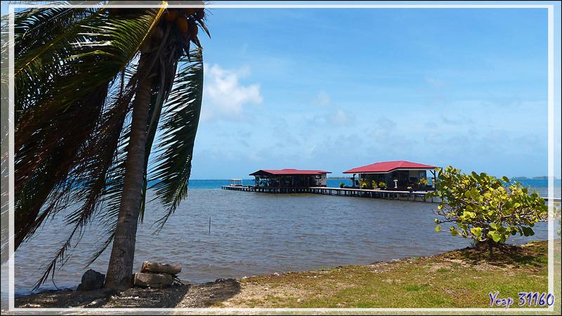 Vue panoramique sur l'environnement de la ferme perlière Love Here Pearl Farm - Patio - Tahaa - Polynésie française
