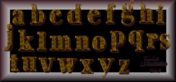 Tube Alphabets 2979 et 2978