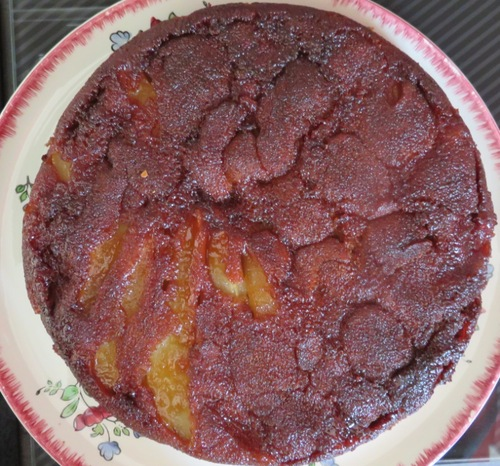 gâteau renversé aux poires et aux épices