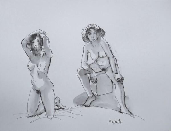Dimanche : Clotilde, deux poses