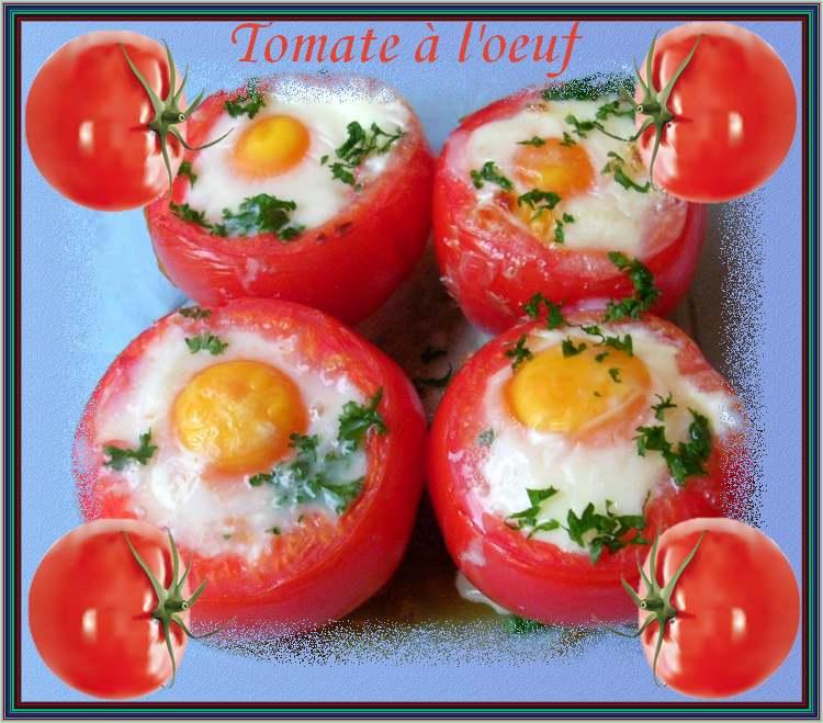 Recette de cuisine : Tomate à l'oeuf