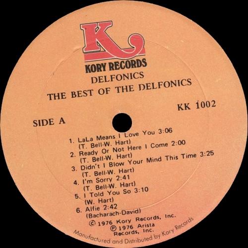 "The Delfonics : Album "" The Best Of The Delfonics "" Kory Records KK 1002 [ US ]"