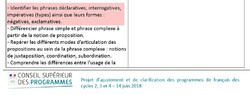 Réjustement des programmes: la forme exclamative